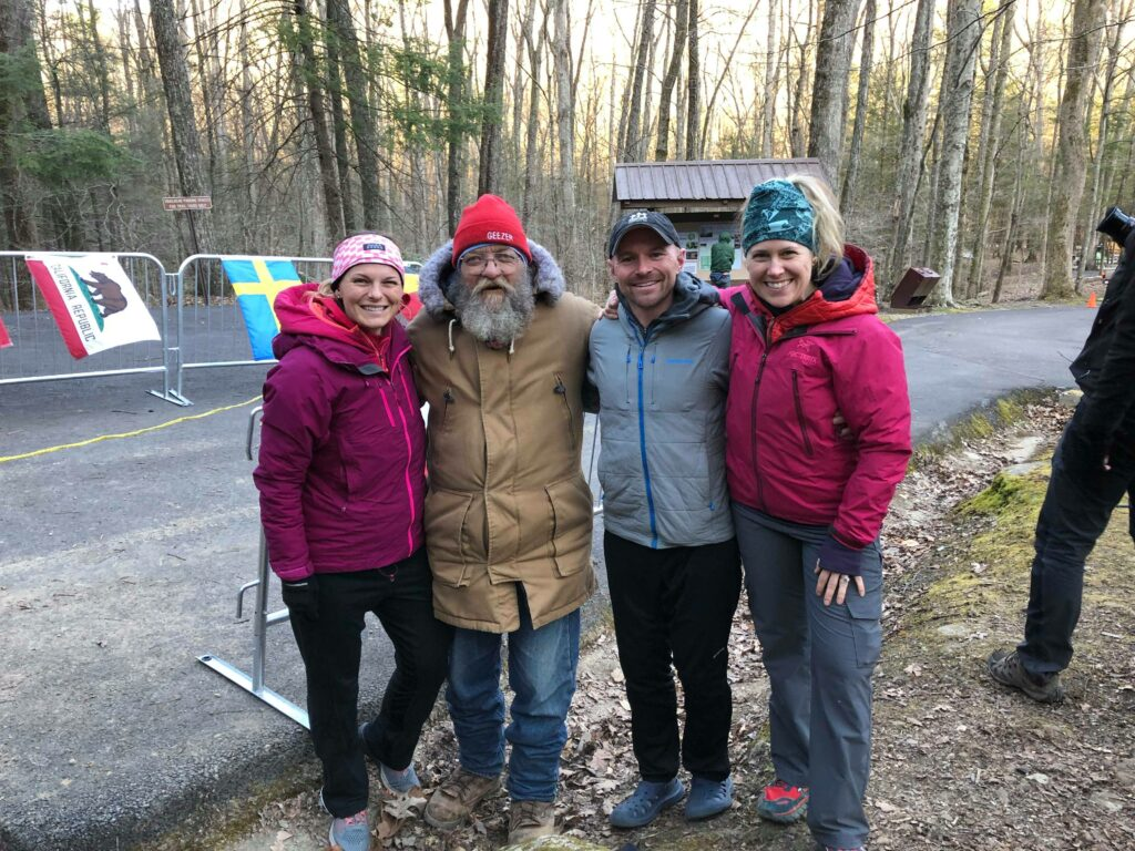 Gavin, his wife, crew and Laz the Race Director