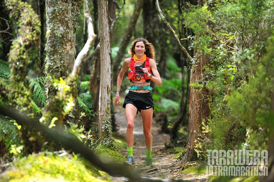 Camille on her way to winning the Tarawera 100 mile